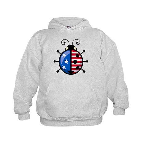 Patriot Ladybug Kids Hoodie