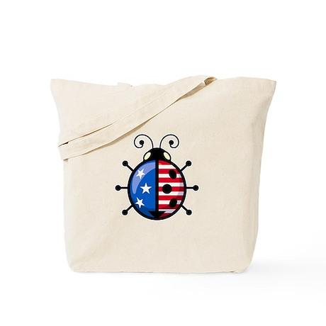 Patriot Ladybug Tote Bag
