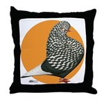 Orange Teager Flight Throw Pillow