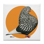 Orange Teager Flight Tile Coaster