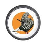 Orange Teager Flight Wall Clock