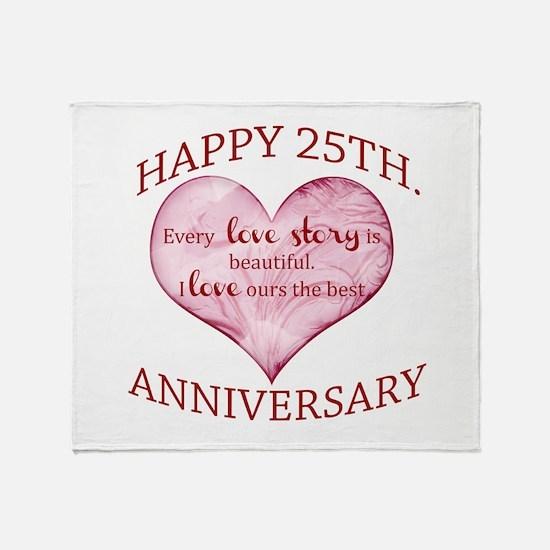 25th. Anniversary Throw Blanket