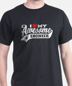 I Love My Awesome Engineer T-Shirt