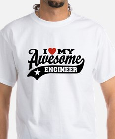 I Love My Awesome Engineer Shirt