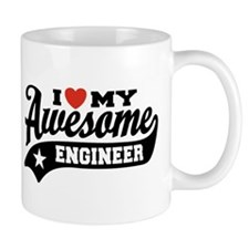 I Love My Awesome Engineer Small Mug