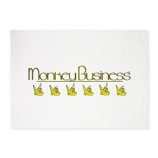 monkey business logo.png 5'x7'Area Rug
