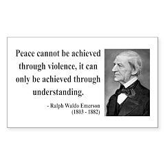Ralph Waldo Emerson 7 Rectangle Decal