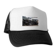 I'm hot and steamy: Colorado train 2 Trucker Hat