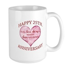 25th. Anniversary Mugs