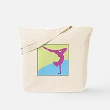 Gymnast Square Tote Bag