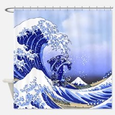 Monogram T Surf's Up! Shower Curtain