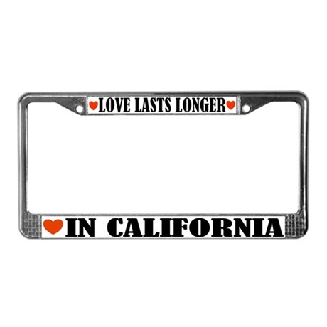 Love In California License Plate Frame
