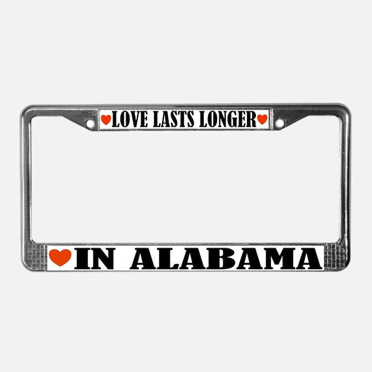 Love In Alabama License Plate Frame