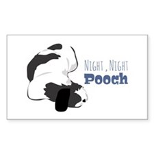 Night Night Pooch Decal