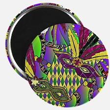 Mardi Gras Feather Masks Magnets