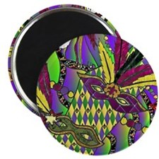 Mardi Gras Feather Masks Magnets