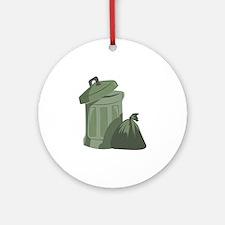 Trash Bin Ornament (Round)