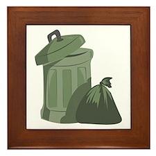 Trash Bin Framed Tile