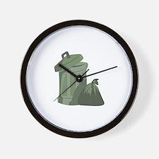 Trash Bin Wall Clock