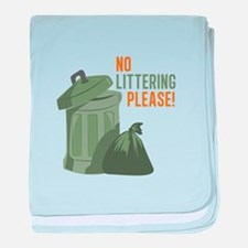 No Littering baby blanket