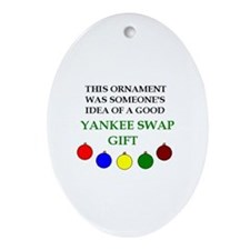 Yankee Swap Oval Ornament