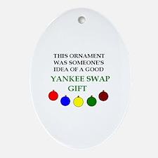 Yankee Swap Oval Ornament
