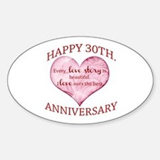 30th. Anniversary Decal