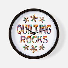 Quilting Rocks Wall Clock