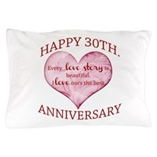 30th. Anniversary Pillow Case