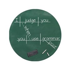 "I judge you when you use po 3.5"" Button (100 pack)"