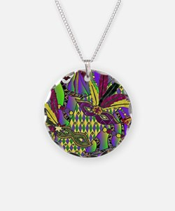 Mardi Gras Feather Masks Necklace