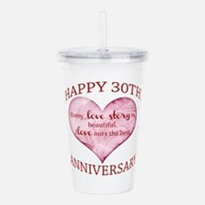 30th. Anniversary Acrylic Double-wall Tumbler