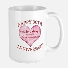 30th. Anniversary Mugs
