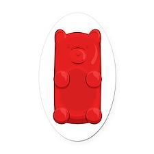 Candy Bear Oval Car Magnet