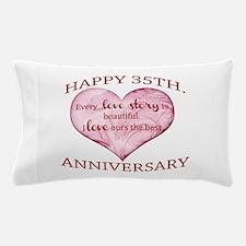35th. Anniversary Pillow Case