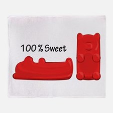 Sweet Candy Bears Throw Blanket