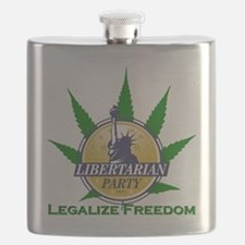 Libertarian Party - Legalize Freedom Flask