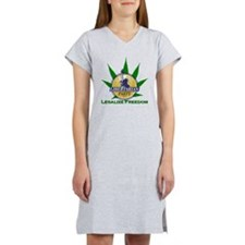 Libertarian Party - Legalize Fr Women's Nightshirt