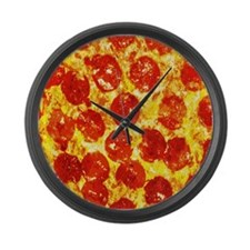 Pizzatime Large Wall Clock