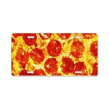 Pizzatime Aluminum License Plate