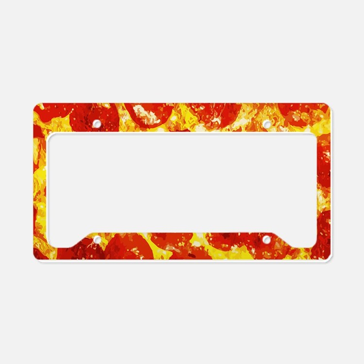 Pizzatime License Plate Holder
