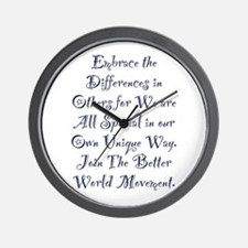 Embrace the Differences Wall Clock