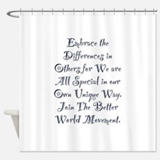 Embrace the Differences Shower Curtain