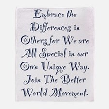 Embrace the Differences Throw Blanket