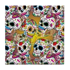 Sugar Skulls Tile Coaster