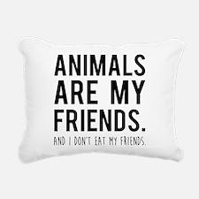 Unique Vegan Rectangular Canvas Pillow