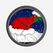 Santa's Back Wall Clock