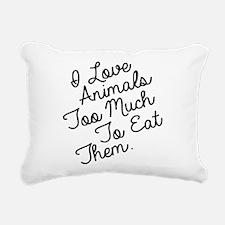 Cute Vegetarian Rectangular Canvas Pillow