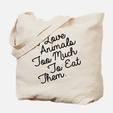 Cute Veganism Tote Bag
