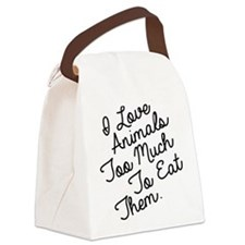 Cute Vegetarian Canvas Lunch Bag